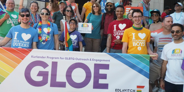GLOE marching at Pride
